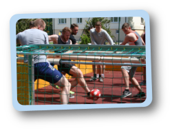 Human Table Soccer in Sigmaringen